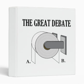 The Great Toilet Paper Bathroom Debate Binder