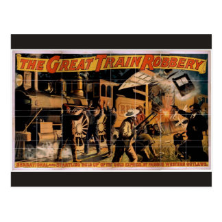The Great Train Robbery Vintage Theater Postcard