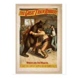 The Great Train Robbery, 'Wrestling for Wealth' Postcard