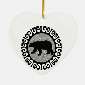 THE GREAT TREK Double-Sided HEART CERAMIC CHRISTMAS ORNAMENT