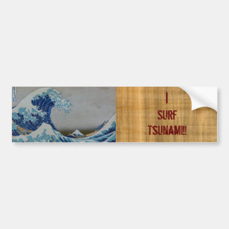 The Great Tsunami Car Bumper Sticker