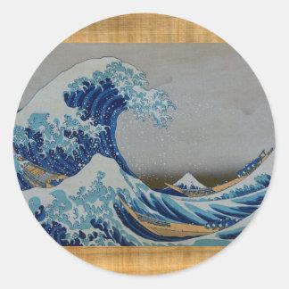 The Great Tsunami Classic Round Sticker