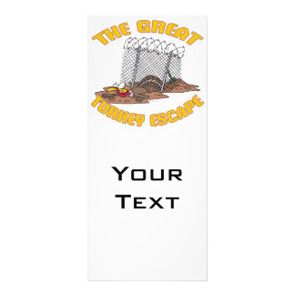 the great turkey escape thanksgiving day humor custom rack cards