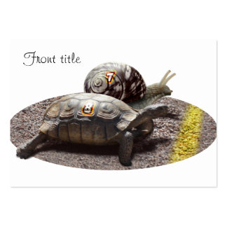The Great Turtle & Snail Race Business Card Template