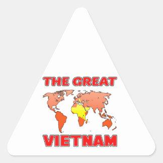 The Great VIETNAM. Triangle Sticker