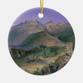 The Great Wall of China, 1886 (w/c) Ornament