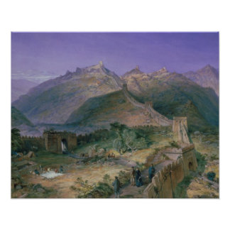 The Great Wall of China, 1886 (w/c) Print