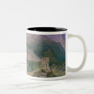 The Great Wall of China, 1886 (w/c) Two-Tone Coffee Mug