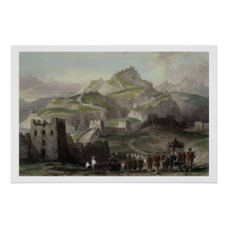 The Great Wall of China, from 'China in a Series o Print