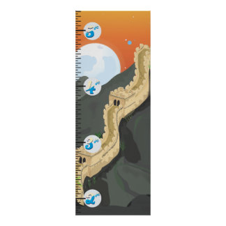 The Great Wall of China Growth chart Poster