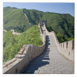 The Great Wall of China in Beijing, China Large Square Tile