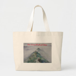 The Great Wall of China Large Tote Bag