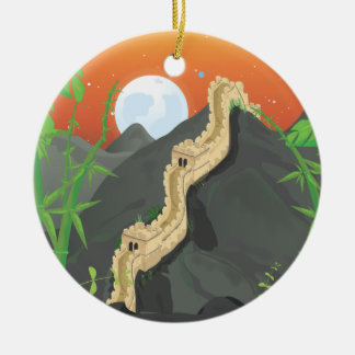 The Great Wall of China Christmas Ornament