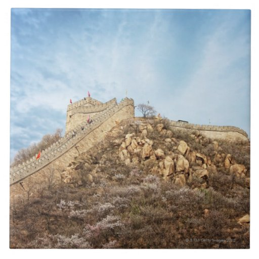 The great wall of China outside Beijing Large Square Tile