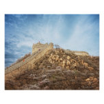 The great wall of China outside Beijing Poster