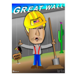 The Great Wall of Trump Postcard