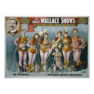 The Great Wallace Shows Vintage Circus Poster