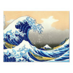 The Great Wave 4.25x5.5 Paper Invitation Card