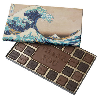 The Great Wave by Hokusai Japanese Art 45 Piece Assorted Chocolate Box
