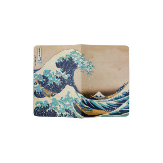 The Great Wave by Hokusai Japanese Art Passport Holder