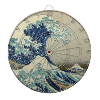 The Great Wave by Hokusai, Vintage Japanese Art Dartboard