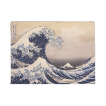 The Great Wave by Hokusai, Vintage Japanese Art Doormat