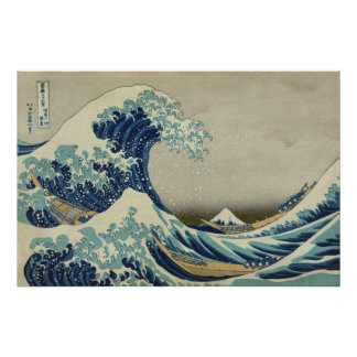 The Great Wave by Hokusai, Vintage Japanese Art Poster