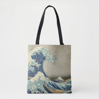 The Great Wave by Hokusai, Vintage Japanese Art Tote Bag
