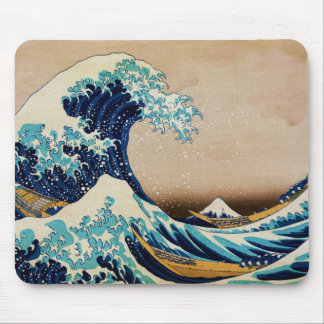 The Great Wave by Hokusai Vintage Japanese Mouse Pad