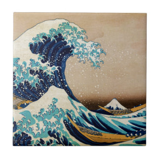The Great Wave by Hokusai Vintage Japanese Ceramic Tile