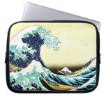 The Great Wave by Katsushika Hokusai (葛飾北斎) Computer Sleeves