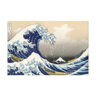 """The Great Wave"" copy of Hokusai's original c.1930 Canvas Print"