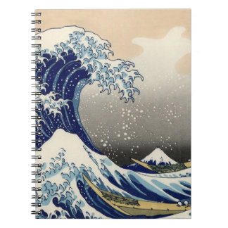 """The Great Wave"" copy of Hokusai's original c.1930 Spiral Notebooks"