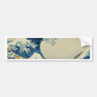 The Great Wave Customs Bumper Sticker