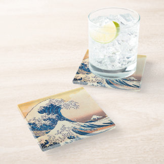 The Great Wave Glass Coaster