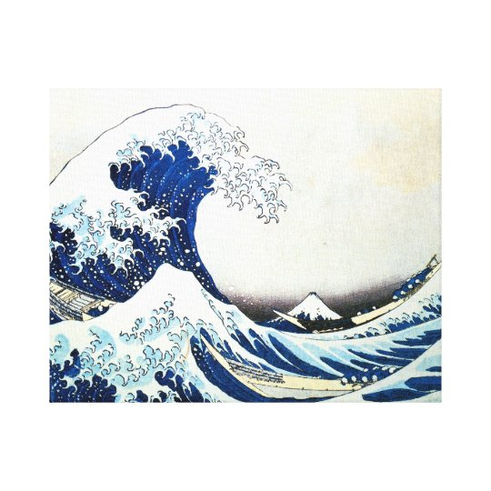 """""""The Great Wave"""" Japanese Painting by Hokusai Canvas Print"""