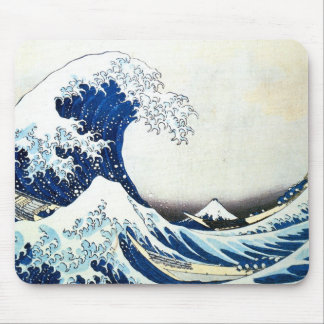 """""""The Great Wave"""" Japanese Painting by Hokusai Mouse Pad"""