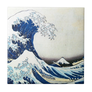 """""""The Great Wave"""" Japanese Painting by Hokusai Ceramic Tile"""