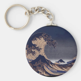 The Great Wave, Japanese painting c. 1830-1832 Keychain