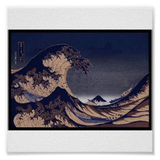 The Great Wave, Japanese painting c. 1830-1832 Poster