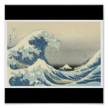 """""""The Great Wave""""  Japanese painting c. 1830-1832 Print"""