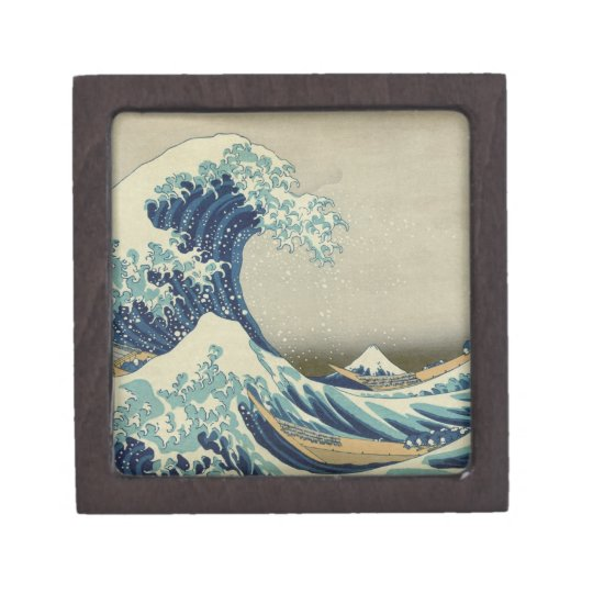 The Great Wave Jewelry Box