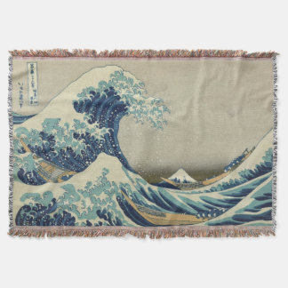 The Great Wave Mt Fuji Throw