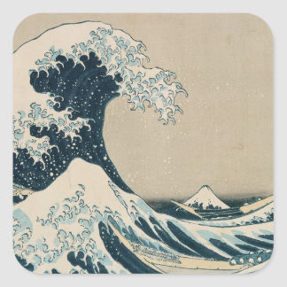 The Great Wave of Kanagawa Square Stickers