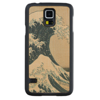 The Great Wave of Kanagawa, Views of Mt. Fuji Carved Maple Galaxy S5 Case