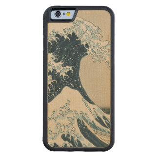 The Great Wave of Kanagawa, Views of Mt. Fuji Carved® Maple iPhone 6 Bumper