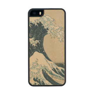 The Great Wave of Kanagawa Carved® Maple iPhone 5 Case