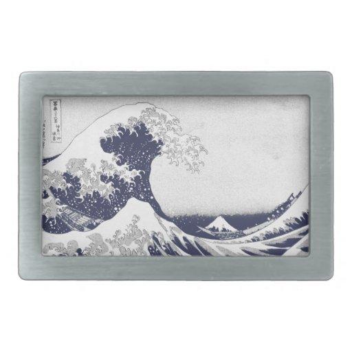 The Great Wave off Kanagawa (神奈川沖浪裏) Belt Buckle
