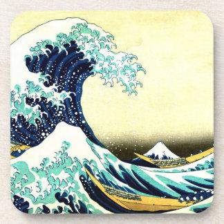 The Great Wave off Kanagawa (神奈川沖浪裏) Beverage Coaster