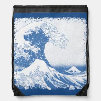 The Great Wave off Kanagawa (神奈川沖浪裏) Drawstring Bag